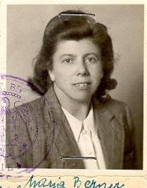 Foto Mitzi Berner im Jahr 1949