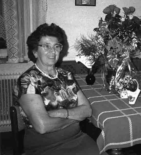 Aloisia Hofinger 1992 an ihrem 70. Geburtstag. Foto: privat